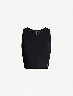 SWEATY BETTY Homestraight Run sleeveless cropped jersey top