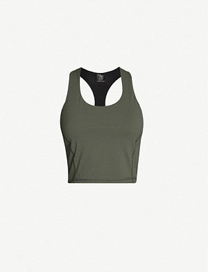 SWEATY BETTY Power cropped stretch-woven vest
