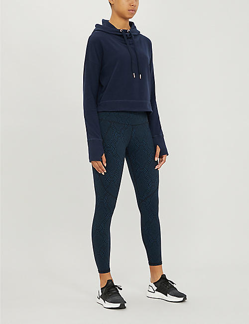 SWEATY BETTY Escape cropped cotton-blend hoody