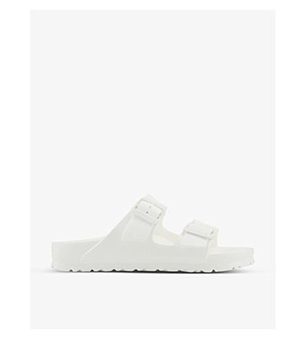 65a8f2c417e5c BIRKENSTOCK Arizona faux-leather sandals (White+eva