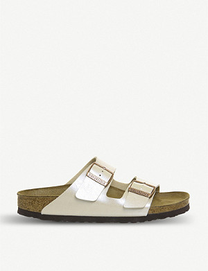 BIRKENSTOCK Arizona strappy pearlescent sandals
