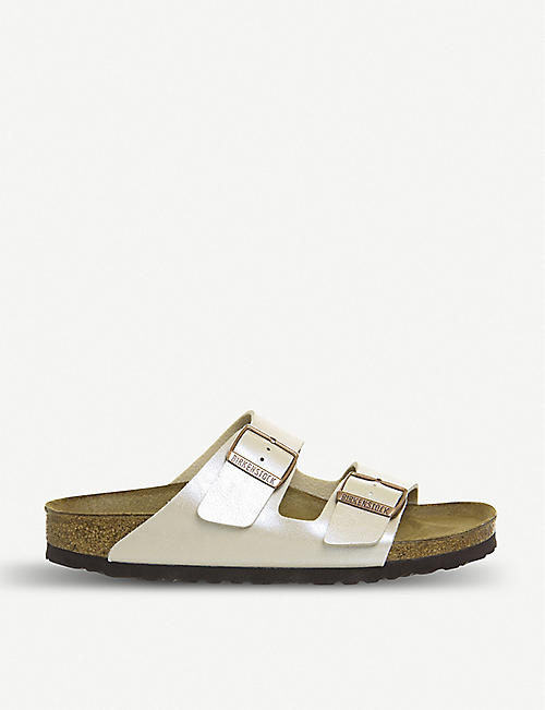 9a493bf2b69d BIRKENSTOCK Arizona strappy pearlescent sandals