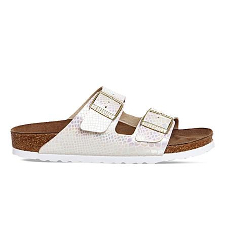 f7e64a93f20e6 BIRKENSTOCK - Arizona metallic faux-leather sandals