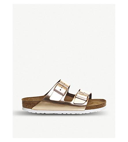 47fcd7e02e57a ... BIRKENSTOCK Arizona metallic faux-leather sandals (Metallic+cooper.  PreviousNext