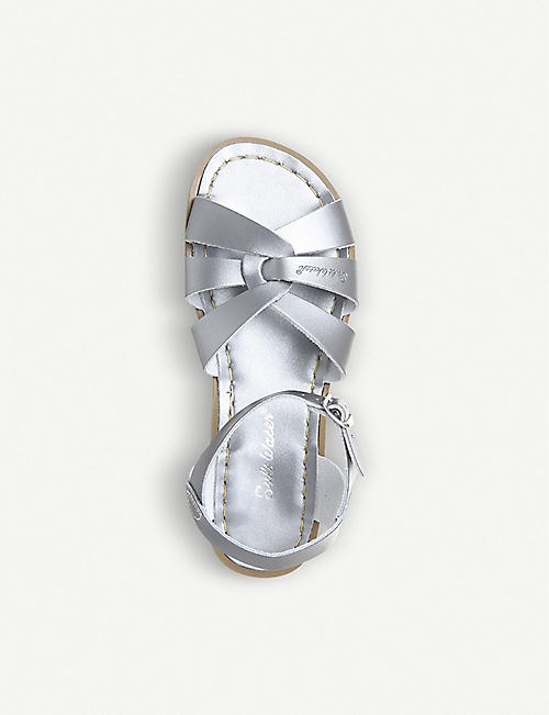 SALTWATER SANDALS Salt Water金属色皮革凉鞋