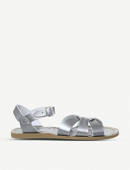 SALTWATER SANDALS: Salt Water metallic leather sandals
