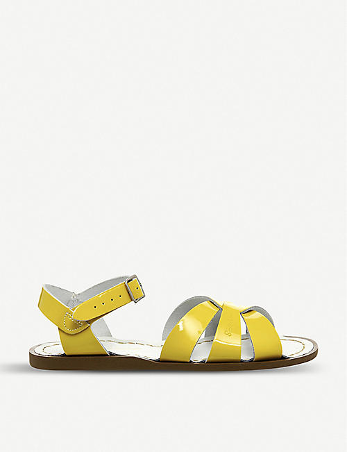 SALTWATER SANDALS: Salt Water patent leather sandals
