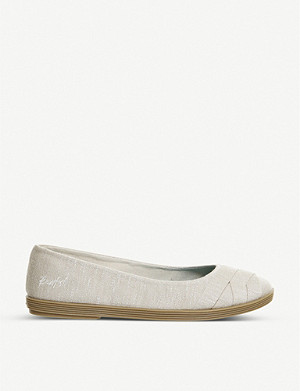 OFFICE Blowfish Glo flat canvas flats