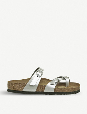 BIRKENSTOCK Mayari criss-cross metallic sandals