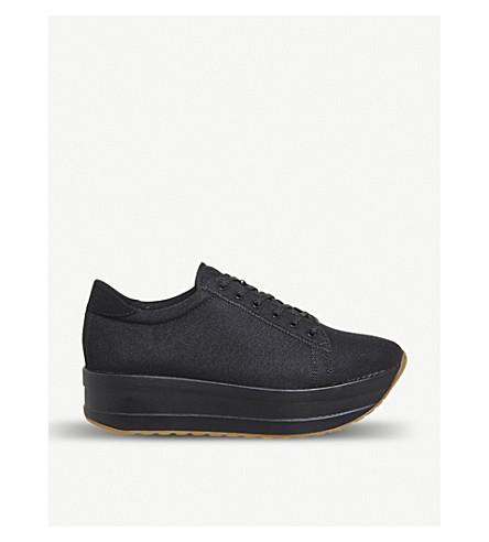 2d180987bd3 VAGABOND Casey platform sneakers (Black+canvas