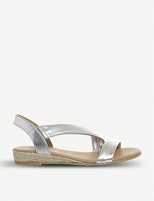 8deb9d9658a OFFICE Heidi espadrille metallic-leather sandals