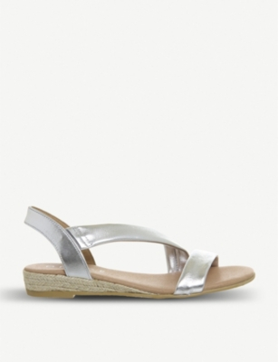 OFFICE Heidi espadrille metallic-leather sandals