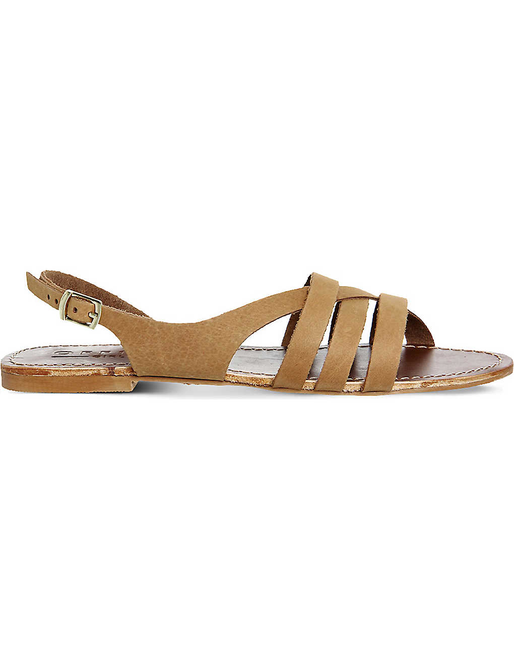 367da6d78 OFFICE - Bamboo leather strappy flat sandals | Selfridges.com
