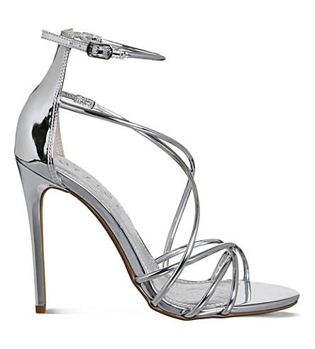 96c4b35c6e4 OFFICE Angel metallic heeled sandals (Silver+mirror