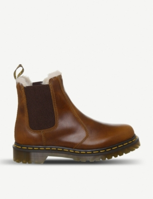 DR. MARTENS 2976 Leonore faux fur-lined leather boots