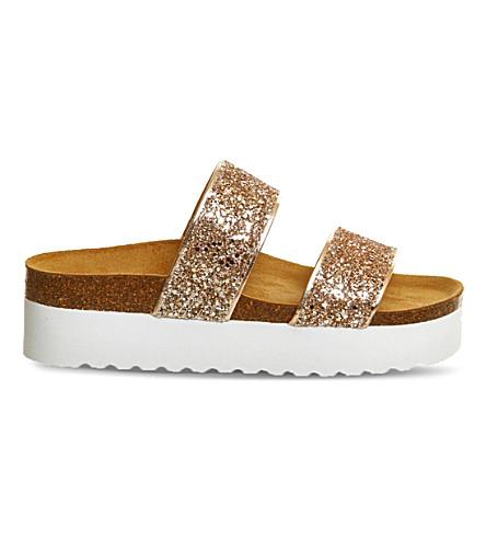 3800da2503c OFFICE - Magnetic glitter flatform sandals