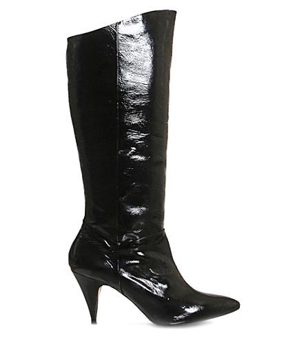 78c3013ca63 OFFICE - Kiss knee-high patent-leather boots | Selfridges.com