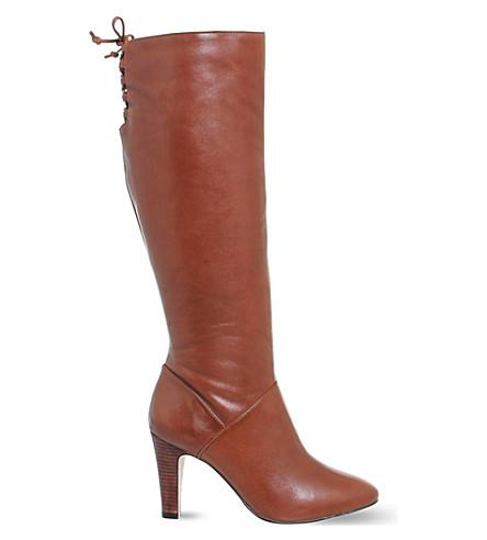 14693f0334b OFFICE - Knicks block heel knee high boots   Selfridges.com