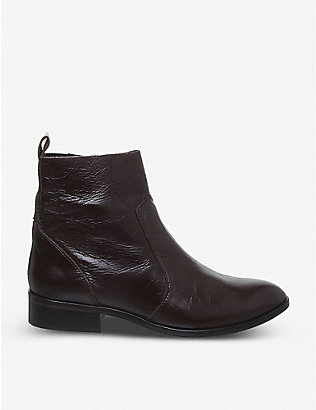 OFFICE: Ashleigh leather flat ankle boots