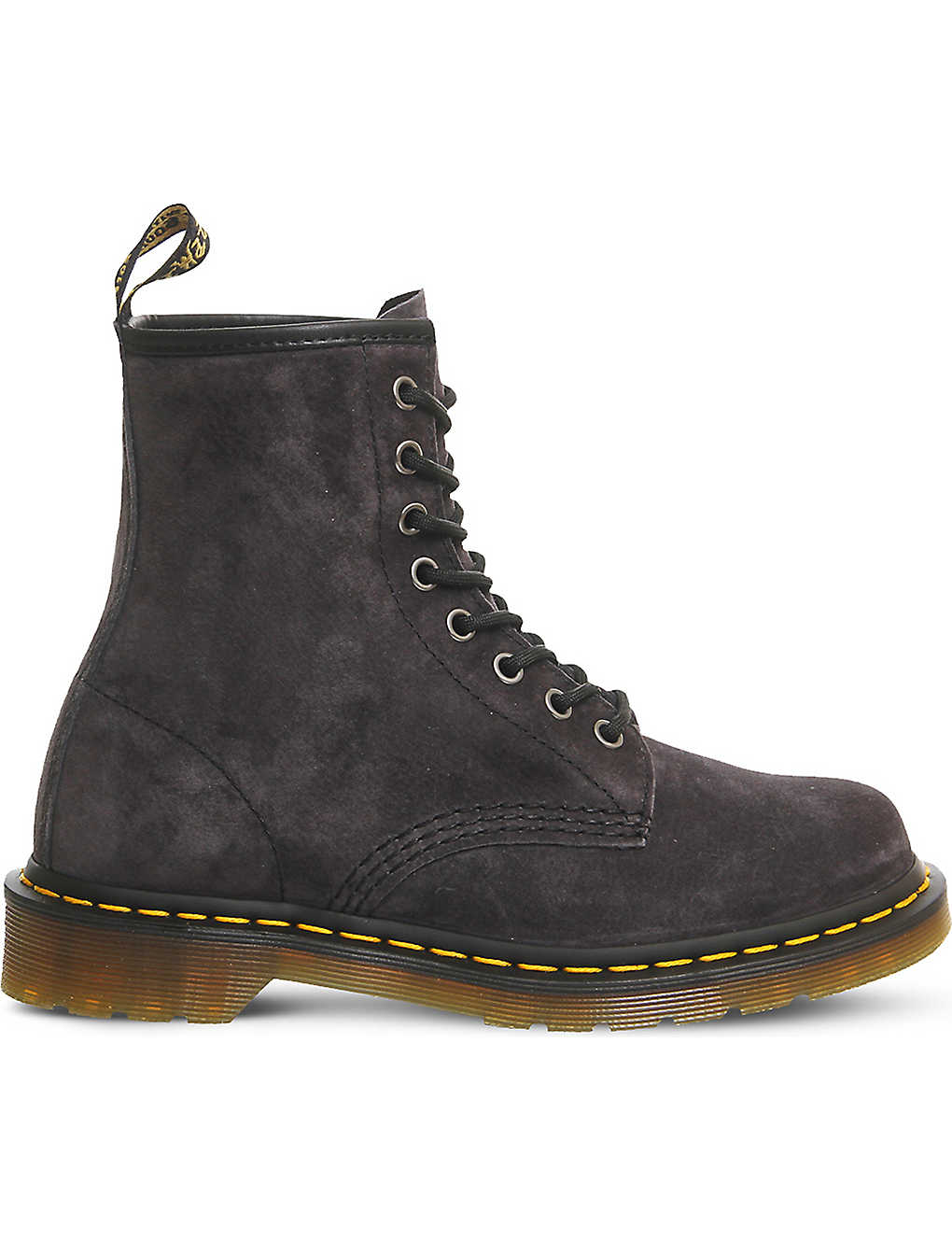 e59e2605dfd7 8-eyelet suede boots - Graphite grey suede ...