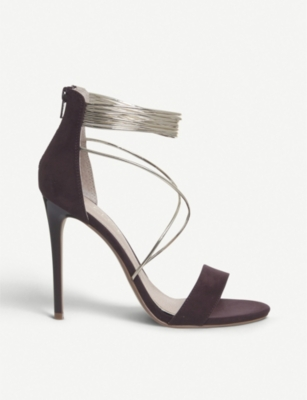 OFFICE Hollywood Tubular faux-suede sandals