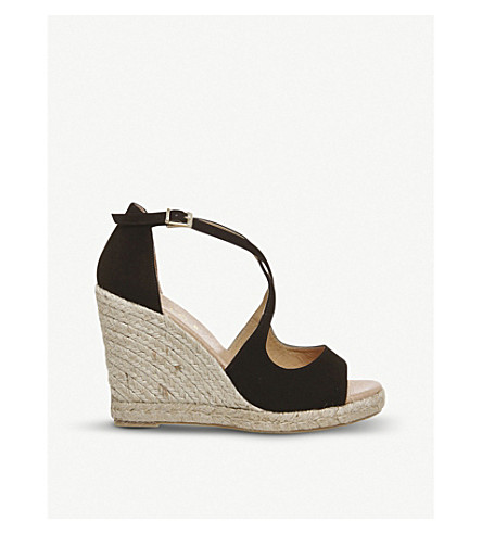 191066fc7c4 Halkidiki suede espadrille wedge heel sandals