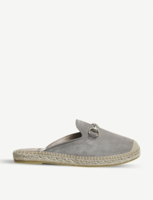OFFICE Dora suede backless espadrille mules