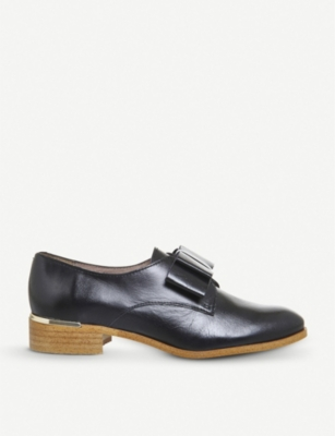 OFFICE Flexa bow-front leather shoes