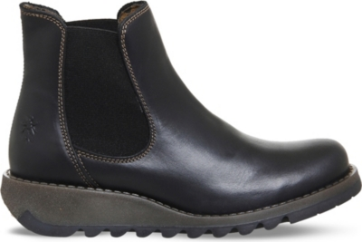 FLY LONDON Salv leather Chelsea boots