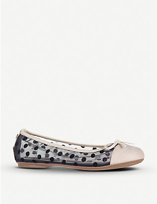 BUTTERFLY TWISTS: Olivia faux-leather quilted ballerina flats