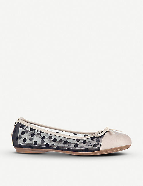 BUTTERFLY TWISTS Olivia faux-leather quilted ballerina flats