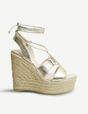 OFFICE Hula Hula ghillie wedge heel sandals