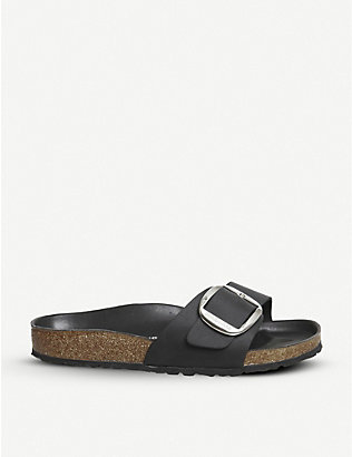 BIRKENSTOCK: Madrid big buckle leather sandals
