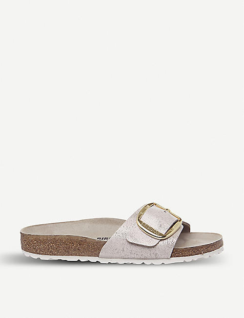 98870287a6220a BIRKENSTOCK Madrid Big Buckle metallic-leather sandals