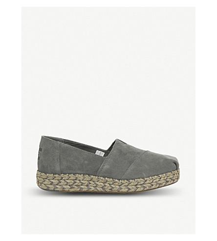 TOMS - Platform Alpargata suede shoes  3426ae49102