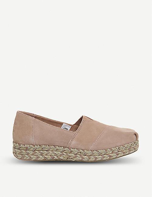 55b53e56055 TOMS Platform Alpargata suede shoes