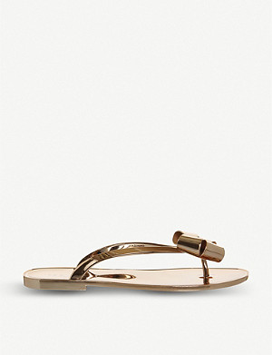 OFFICE Glamari bow-detail metallic jelly sandals