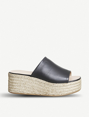 OFFICE Seneka 皮革 espadrille 平台凉鞋