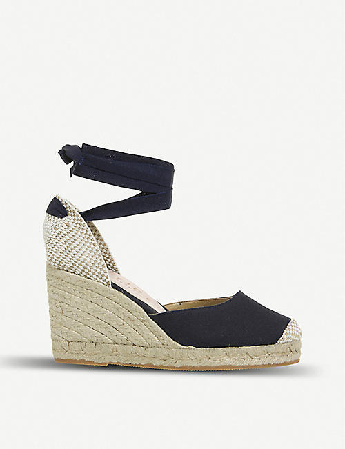 1b5698a1ca0 OFFICE Marmalade canvas espadrille wedges