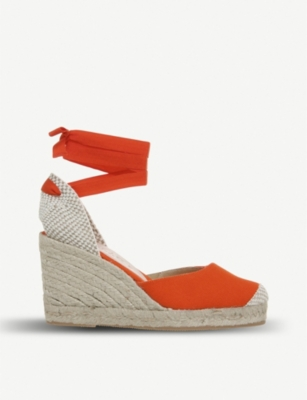 OFFICE Marmalade canvas espadrille wedges