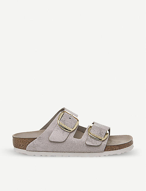 96e97e3223c6 BIRKENSTOCK Arizona Big Buckle metallic-suede sandals
