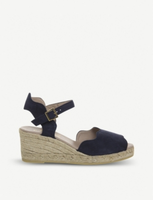 OFFICE Round espadrille suede wedges