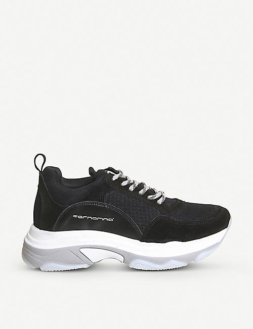 2b2130703a17bd OFFICE Fornarina Super leather and mesh trainers