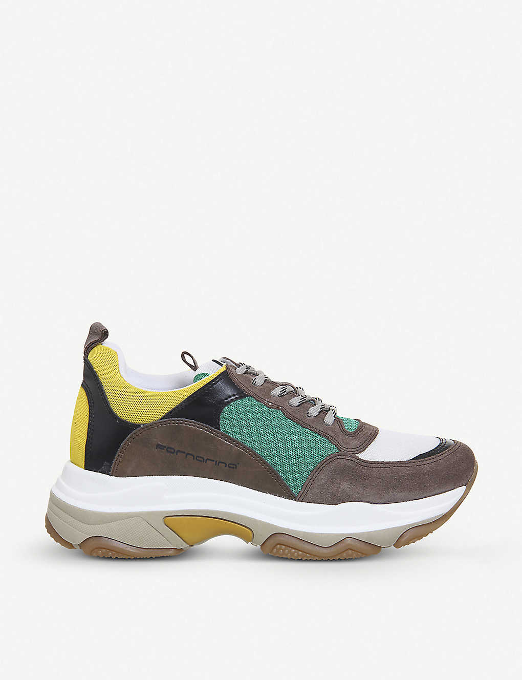 6c7acc477 OFFICE - Fornarina Super leather and mesh trainers | Selfridges.com