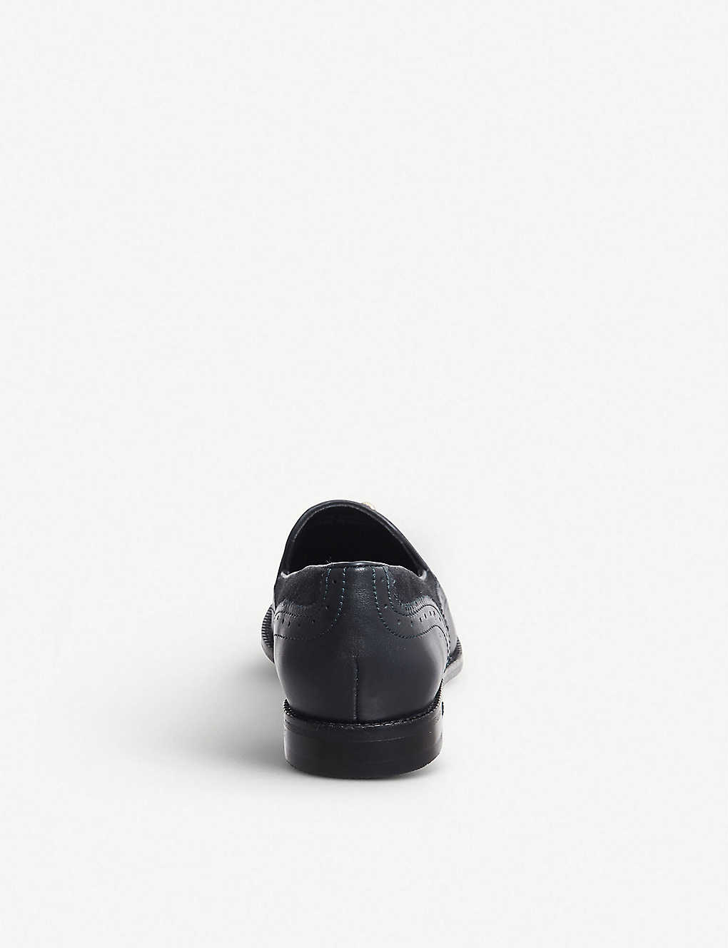 e782ee21eea ... Familiar tassel-detail patent leather loafers - Navy leather suede