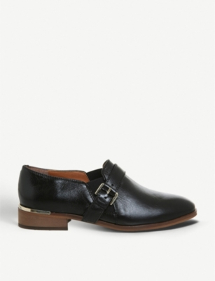 OFFICE Fray double-gusset leather monk shoes
