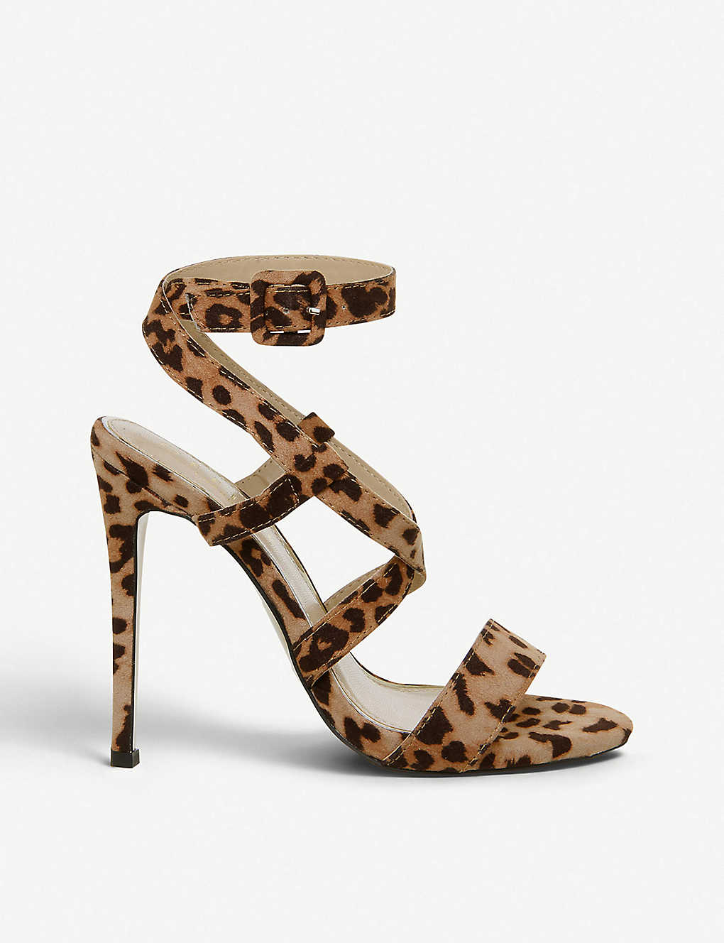 b2f5fdb5c6e6 OFFICE Hampstead leopard print faux-leather crossover strap sandals