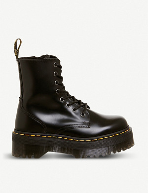 DR. MARTENS Jadon 8-eye leather platform boots