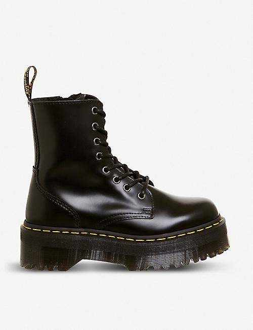DR. MARTENS: Jadon 8-eye leather platform boots