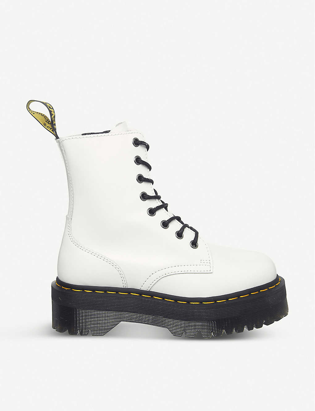 Jadon 8-eye leather platform boots - White